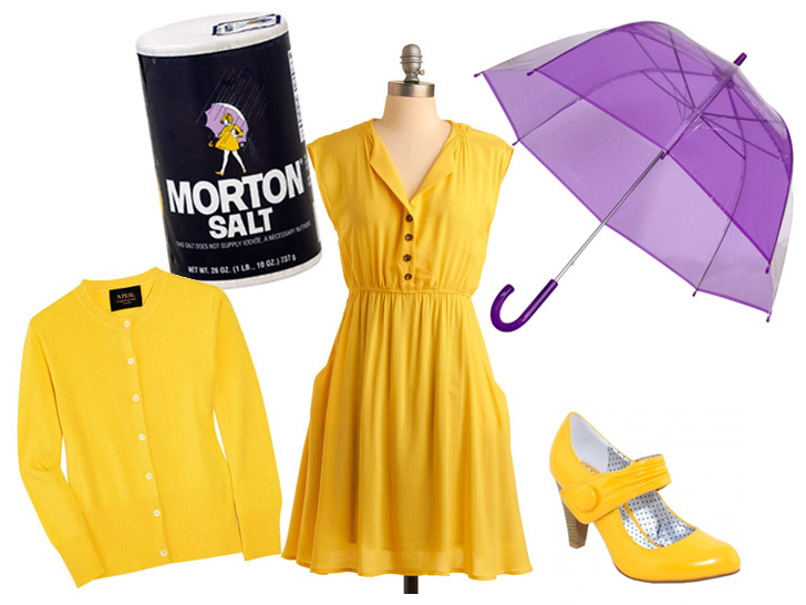 diy halloween costume morton salt girl - Halloween Food Costume