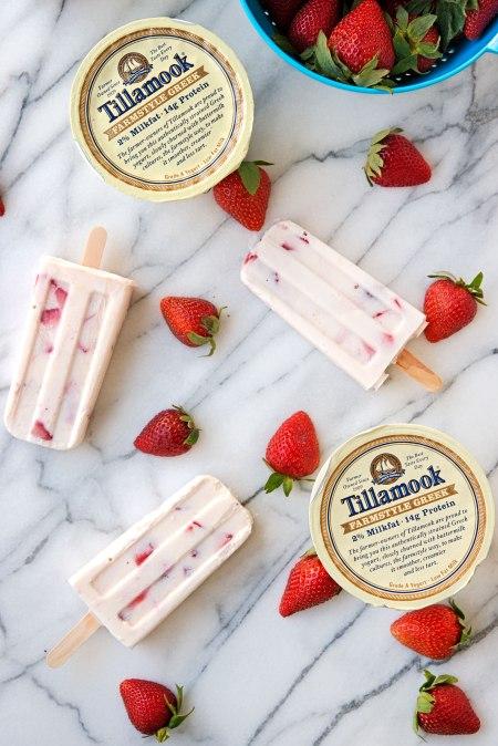 Tillamook Strawberry Yogurt Ice Pops   SodaPop PR